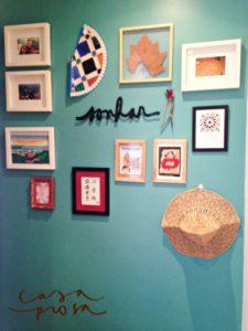 decorando a casa - parede galeria
