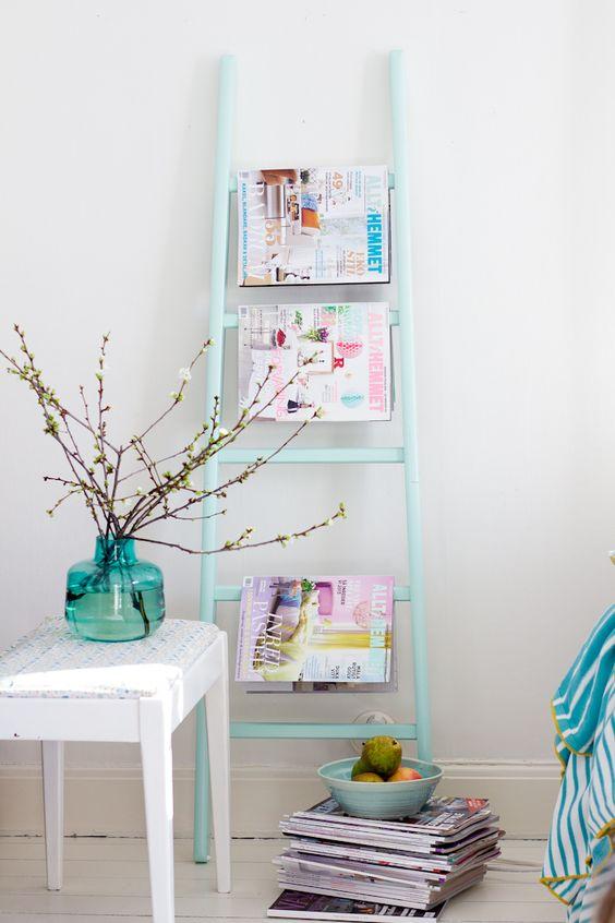 Como usar sua escada para decoração de 10 jeitos diferentes